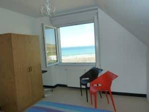Appartement-4- Chambre vue sur la baie de Douarnenez et crozon morgat