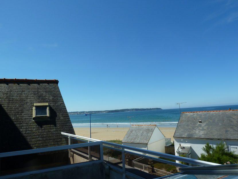 Appartement 8-Terrasse avec vue sur la plage de Kervel, sur Douarnenez et Crozon